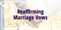 Reaffirming Marriage Vows